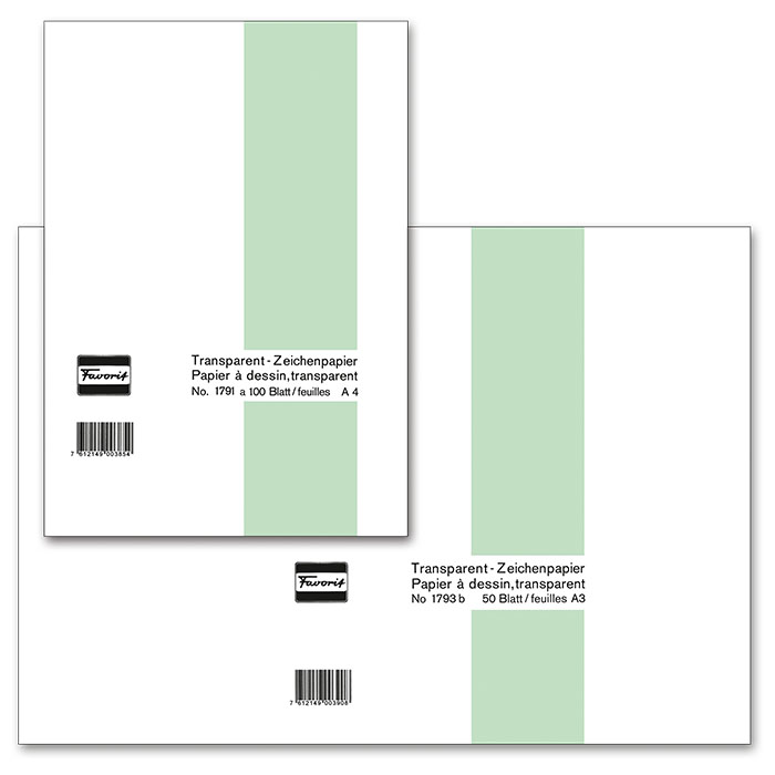 Favorit transparent paper pad