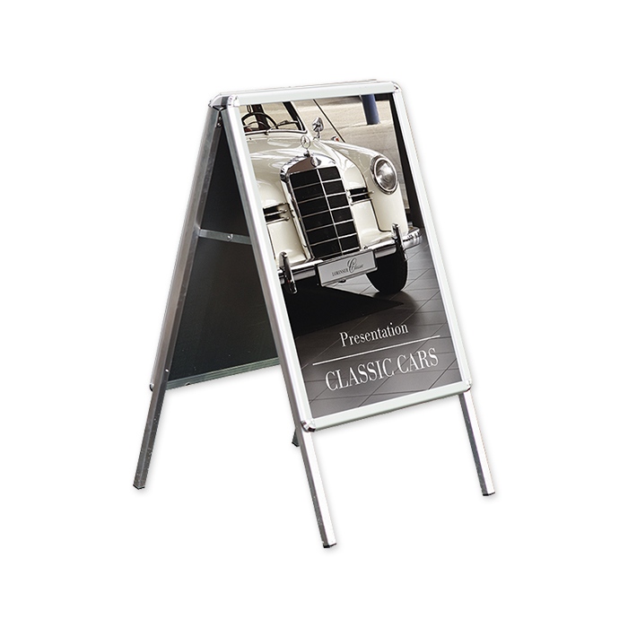 Folding promotional stands, weather-resistant