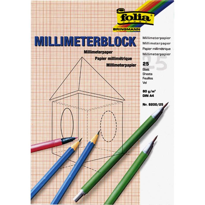Folia Millimeter-Papier-Block
