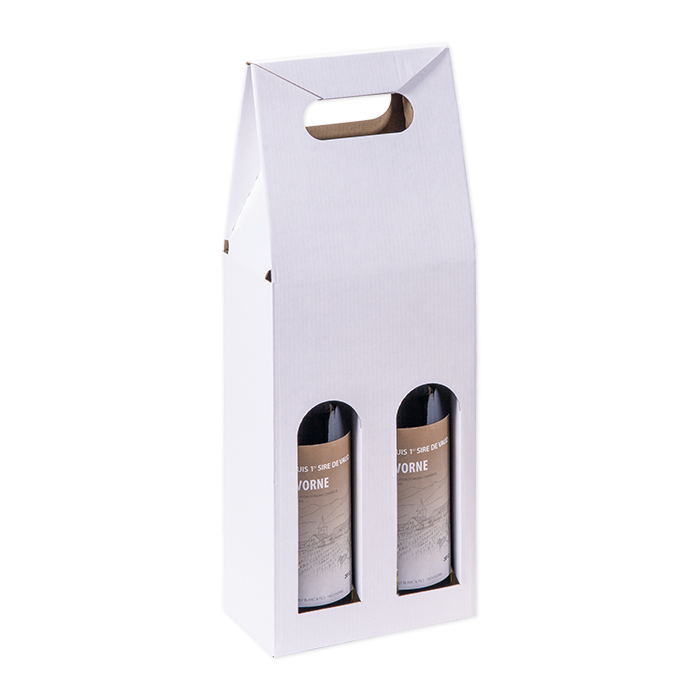 Brieger Carrying packaging for wine for 2 bottles, 162 x 81 x 370 mm