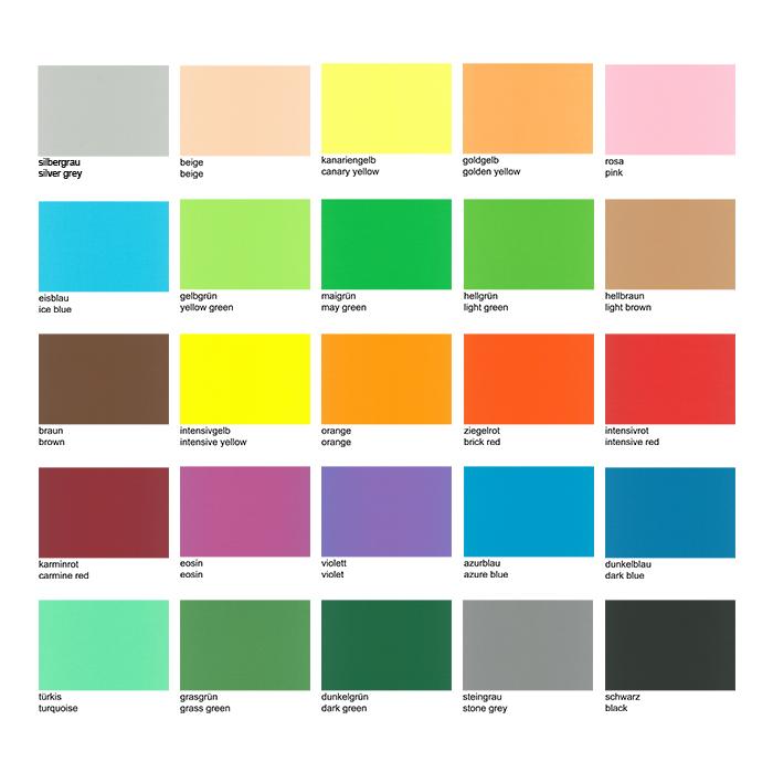 Farbige Zeichenpapiere