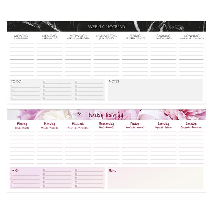 Landscape desk calendar
