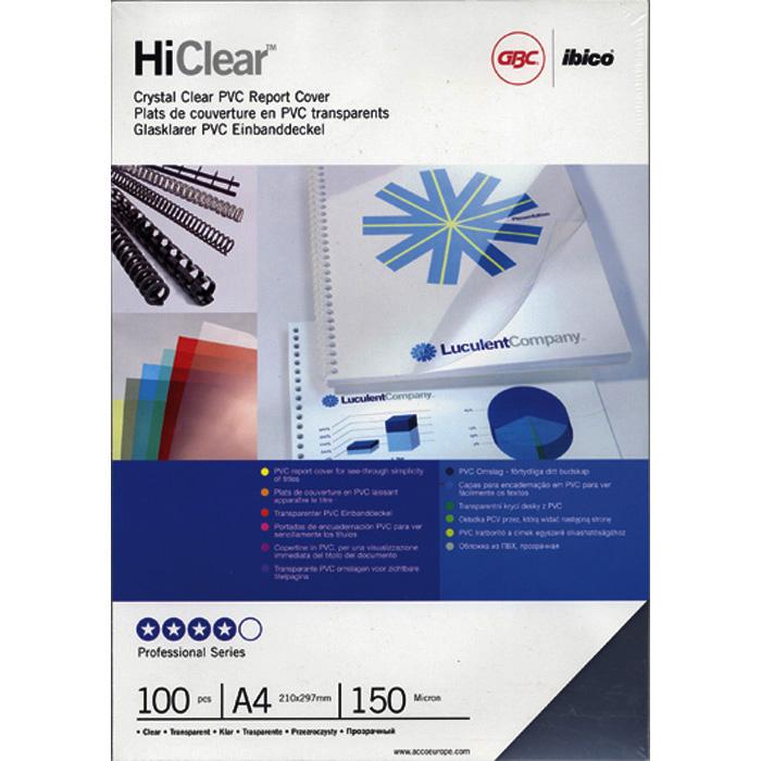 GBC Transparent film ClearView A4 - 0.18 mm, blue transparent