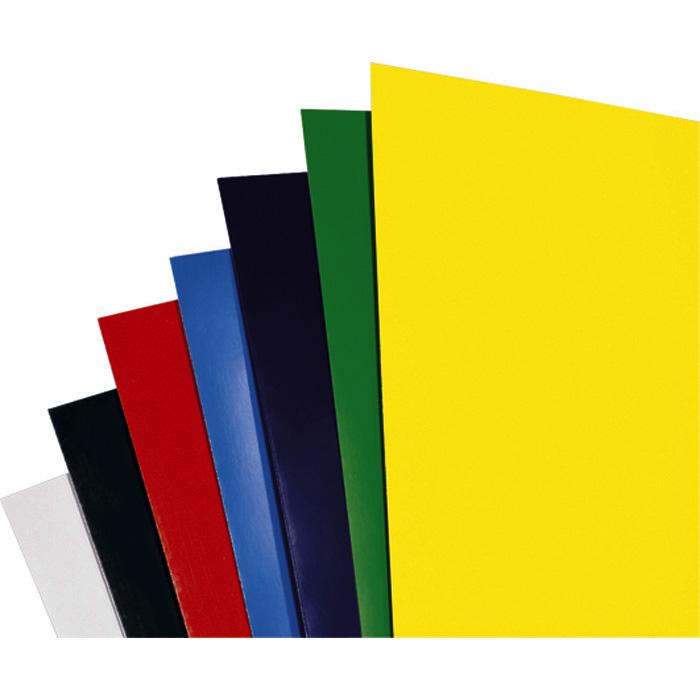 GBC Binding cover HiGloss A4, white, glossy on one side