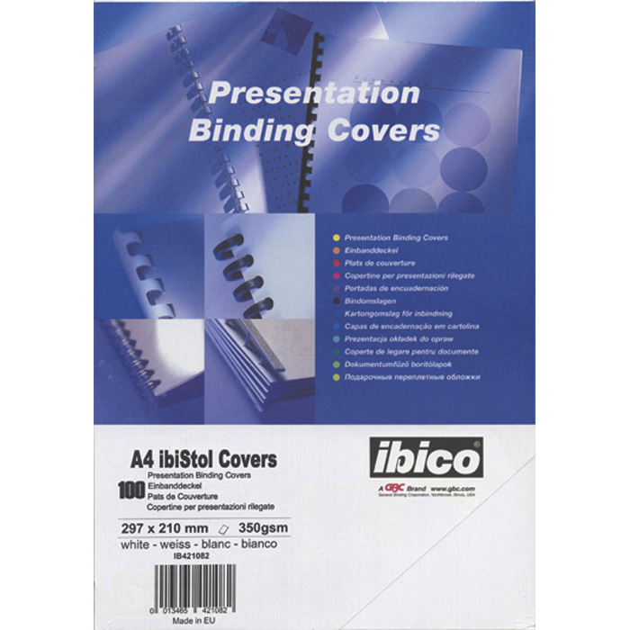 GBC Binding cover Traditional white