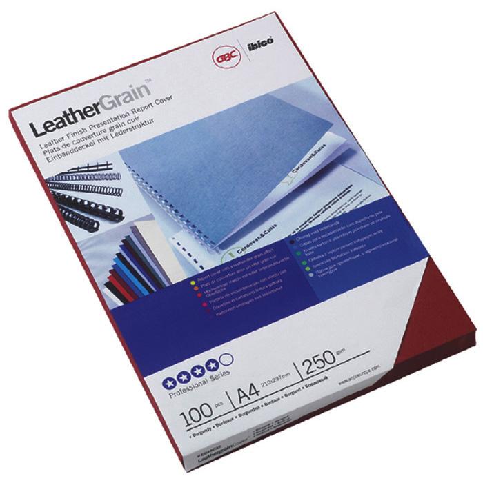 GBC Binding cover LeatherGrain blue