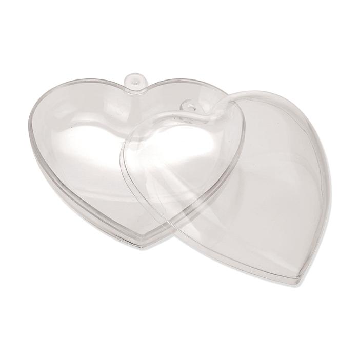 Glorex Kunststoff-Herz teilbar 95 mm