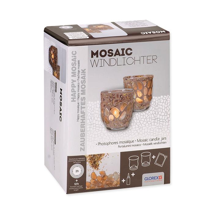 Glorex Creative Set décor mosaic candle jars