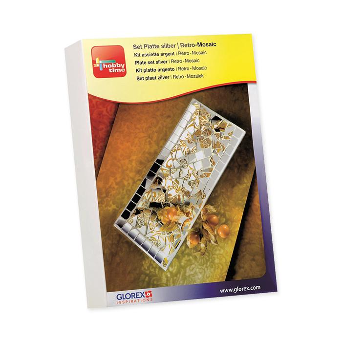 Glorex Creative kit Retro-Mosaic Square plate