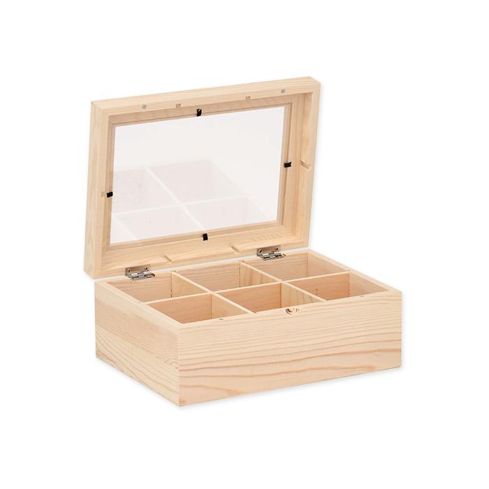 Glorex FSC Wooden Tea Box