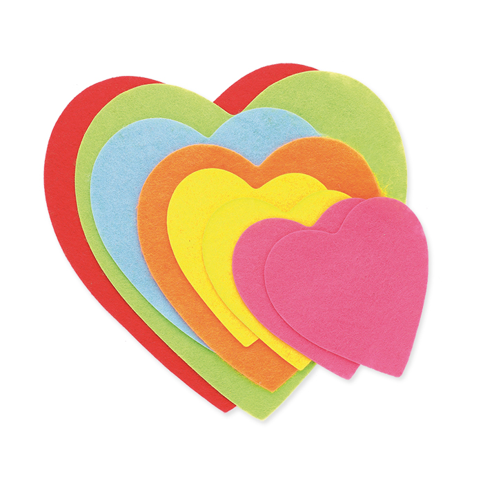 Glorex Felt hearts