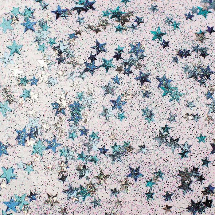 Glorex Glitter glue Confetti 53 ml stars blue/silver