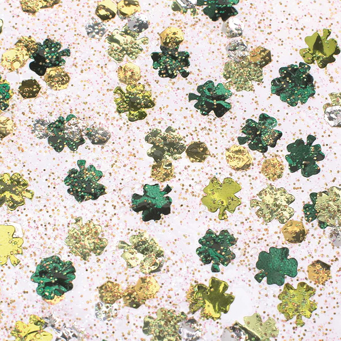 Glorex Glitter glue Confetti 53 ml  clover green/yellow