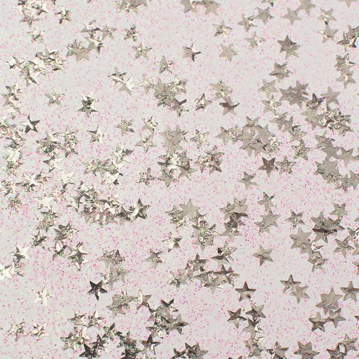 Glorex Glitter glue Confetti 53 ml stars silver
