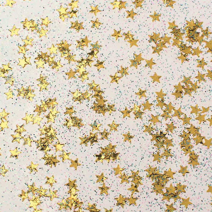 Glorex Glitter glue Confetti 53 ml stars gold