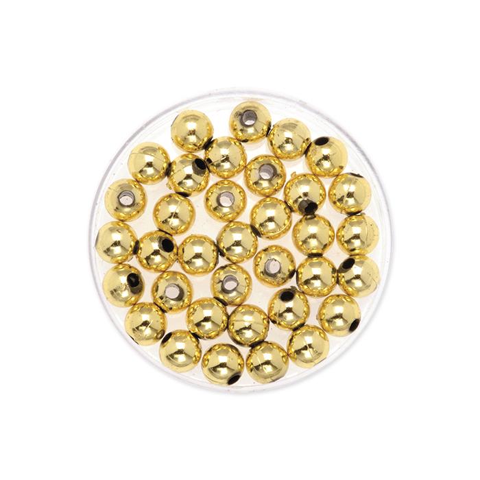 Glorex decorative beads 6 mm, golden