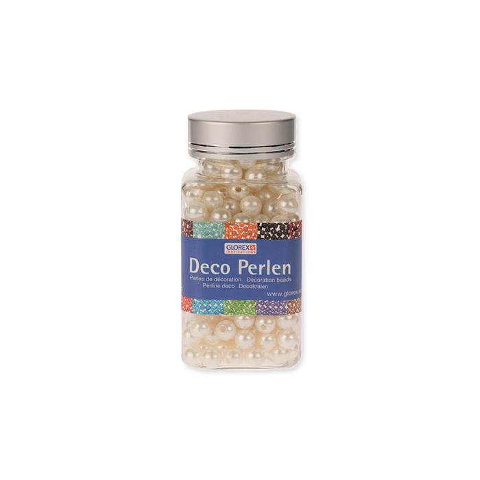 Glorex decorative beads 6 mm, pearl white