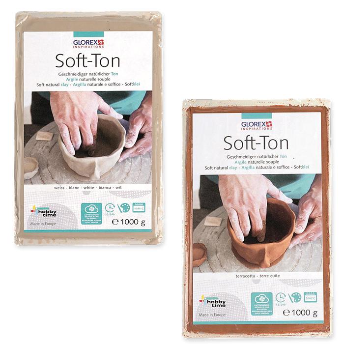 Glorex Soft-Ton, lufthärtend / brennbar