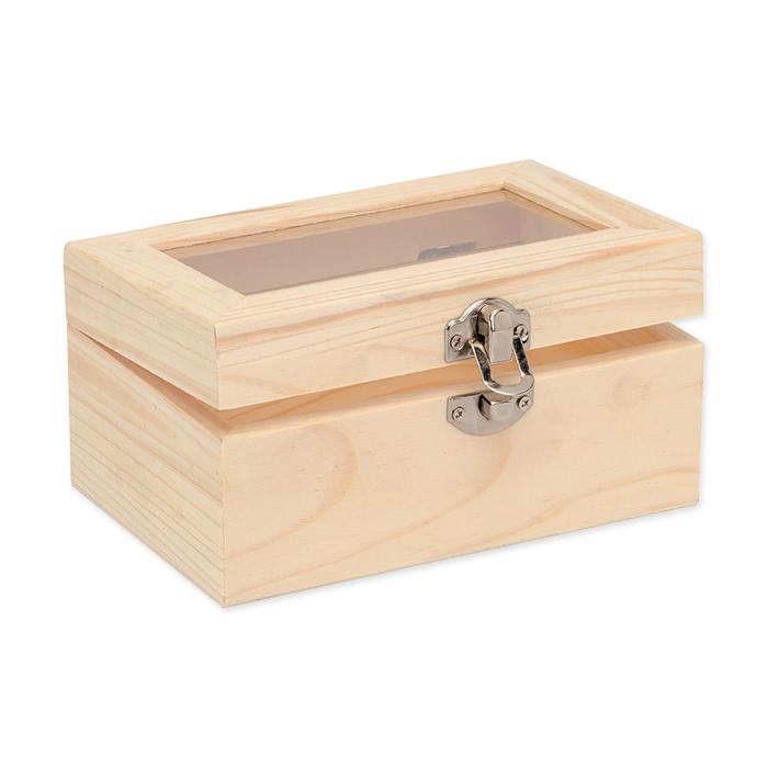 Glorex Wooden Box with glass