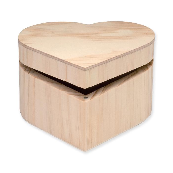 Glorex Wooden box heart FSC