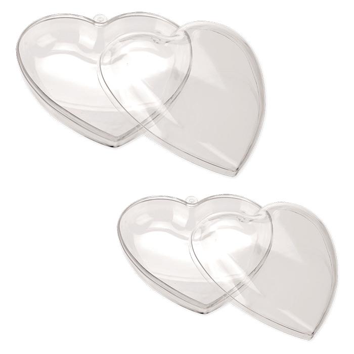 Glorex separable plastic hearts