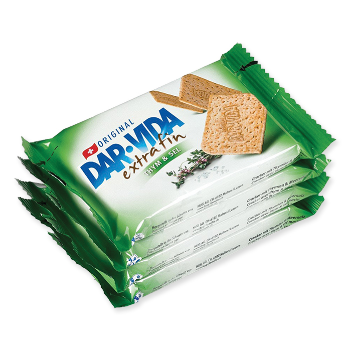 Dar-Vida Cracker Extra Fin Thym & Sel 4 x 46 g