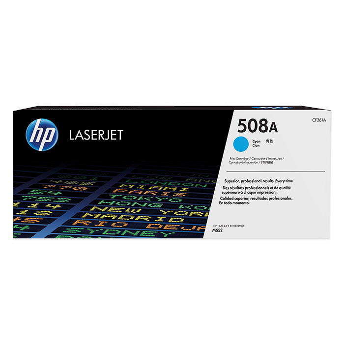 HP Toner cartridge No. 508 + accessories cyan, 5'000 pages