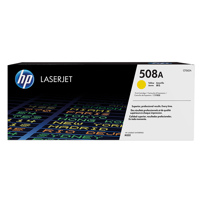 HP Toner cartridge No. 508 + accessories yellow, 5'000 pages