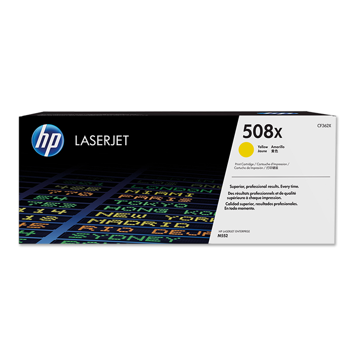 HP Toner cartridge No. 508 + accessories yellow, 9'500 pages
