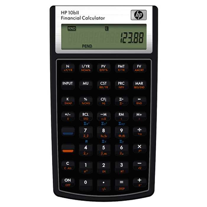 HP Financial calculator 10bII