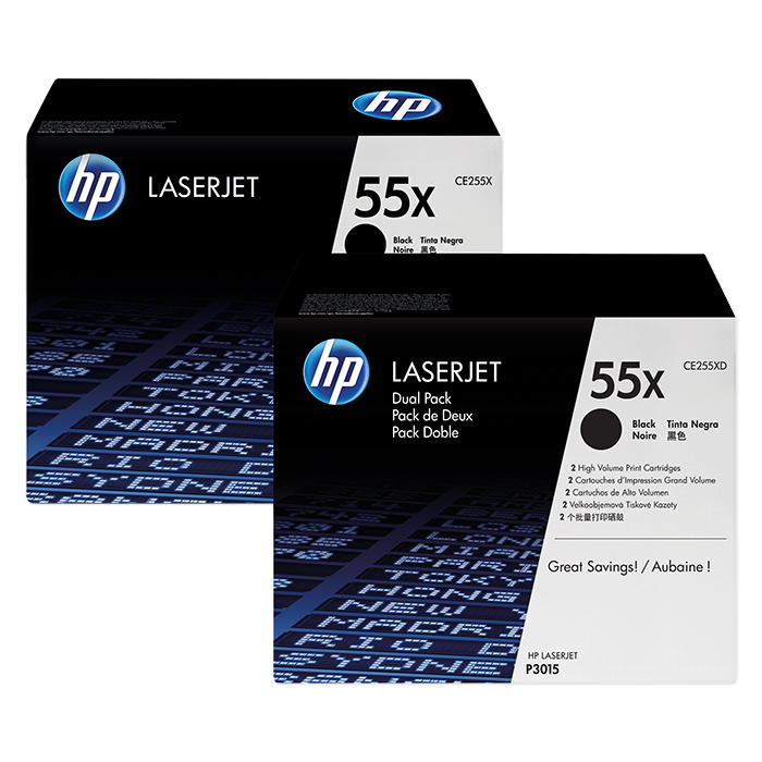 HP Toner cartridge No. 55 black HY, 2 x 12'500 pages