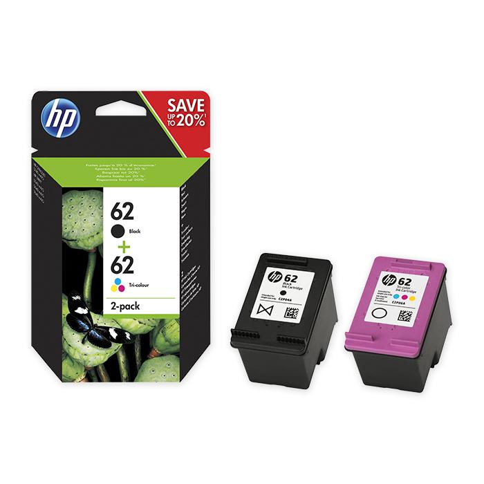 HP Tintenpatrone Nr. 62 Combopack black/color, 200/165 Seiten
