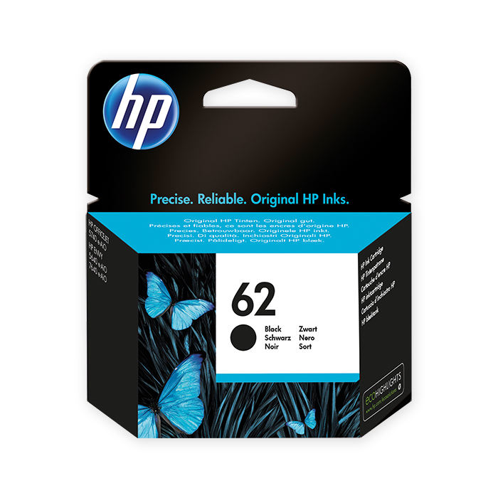 HP Inkjet cartridge No. 62 black, 200 pages