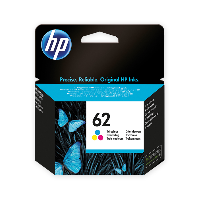 HP Inkjet cartridge No. 62 color, 165 pages