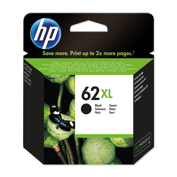 HP Inkjet cartridge No. 62 black, 600 pages