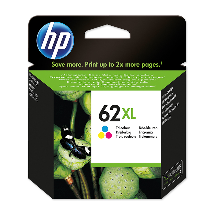 HP Inkjet cartridge No. 62 color, 415 pages