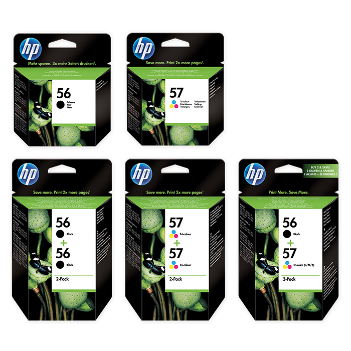 HP Tintenpatrone Nr. 56 / 57 / 58
