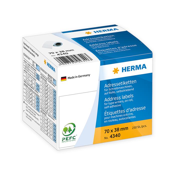 Herma Address labels on rolls