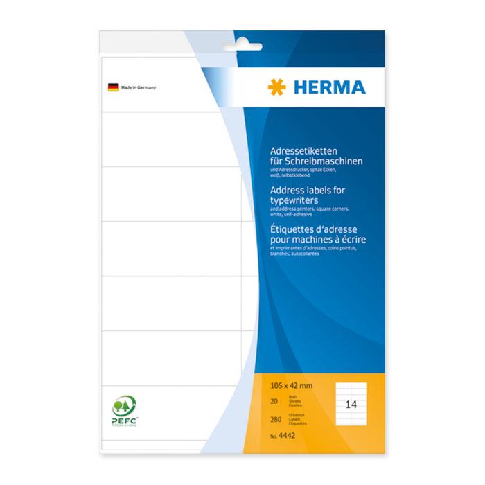 Herma Adress-Etiketten Bogen A4
