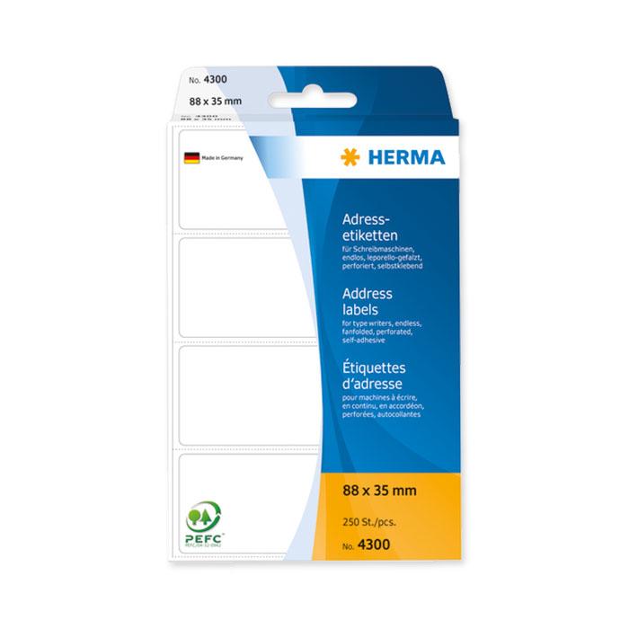 Herma Adress-Etiketten Zick-Zack gefalzt