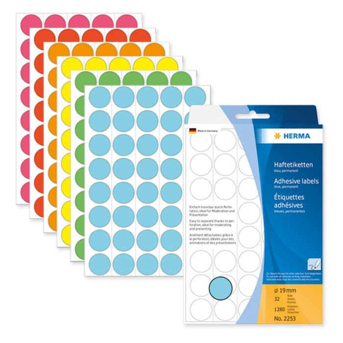 Herma Haftetiketten Grosspackung farbig