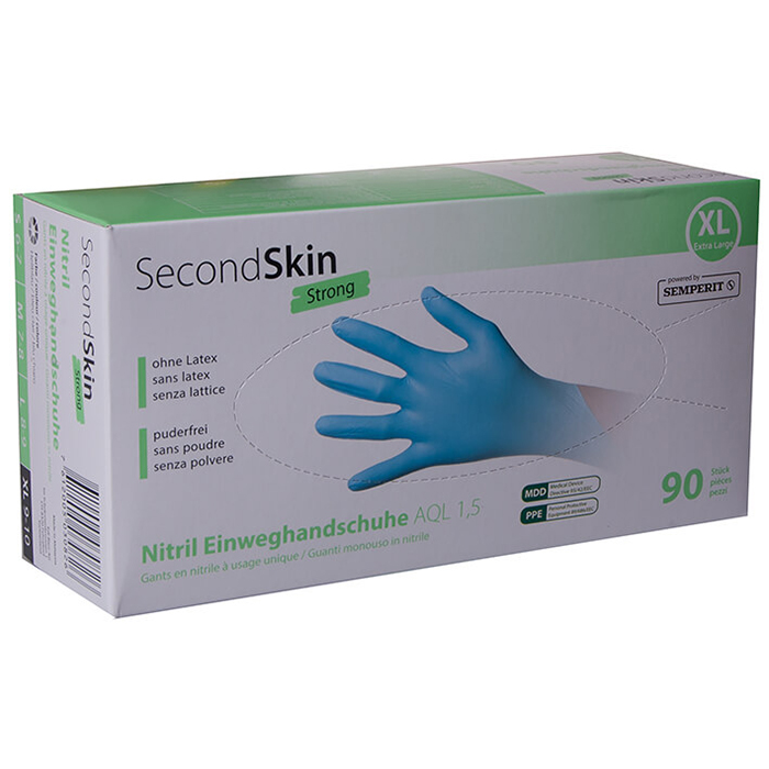 Second Skin Strong Disposable gloves Nitrile Size XL