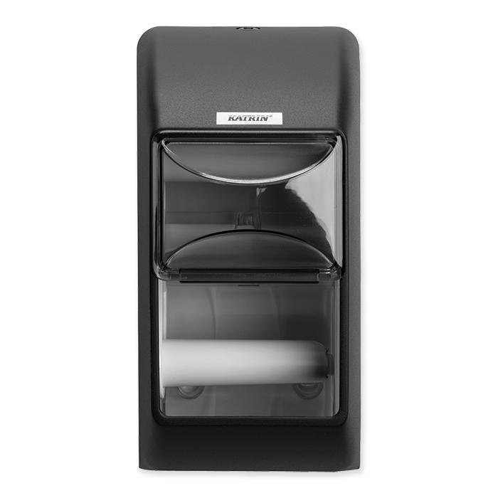 Katrin Inclusive Dispenser per carta igienica per 2 rotoli nero