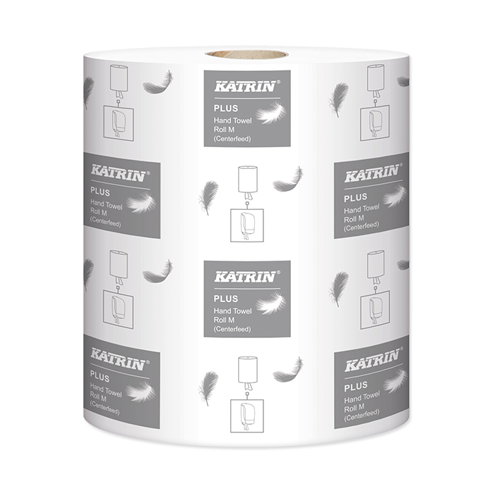 Bobine di carta asciugamani Katrin Plus M2 2 veli, 22 x 38 cm