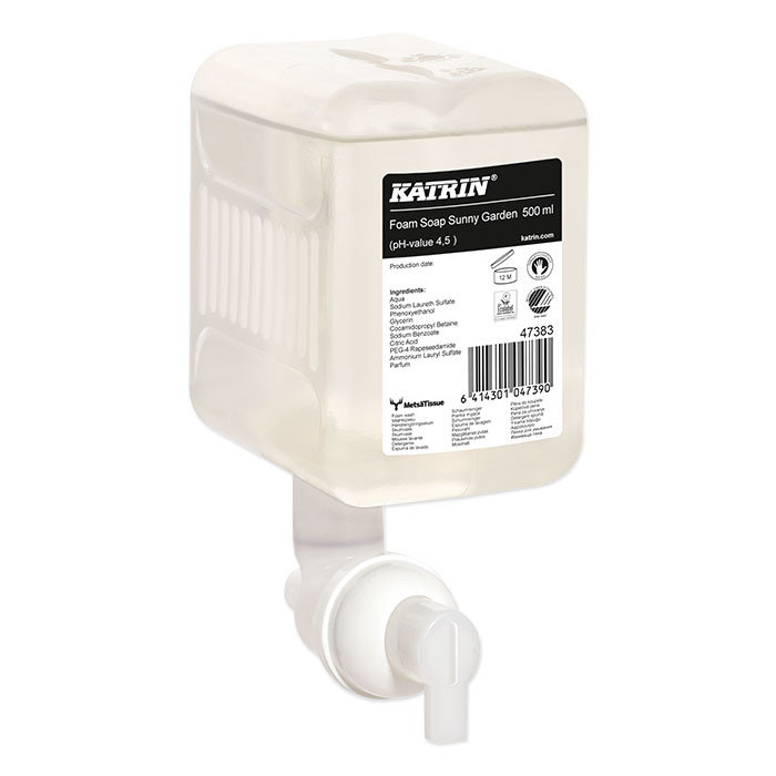 Mousse de lavage parfumée pour les mains Katrin Sunny Garden, 500 ml