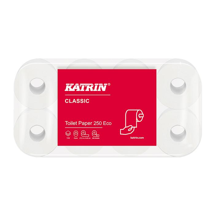 Katrin Toilettenpapier Classic Toilet 250 eco 3-lagig, 9,5 x 11 cm
