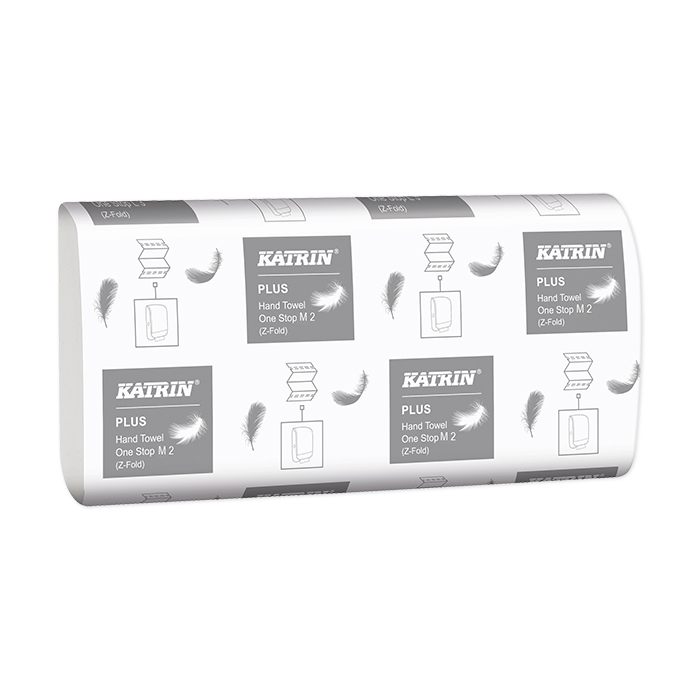 Katrin hand towels, Plus One-Stop M2, W-fold, 3 layer,  23,5 x 25 cm