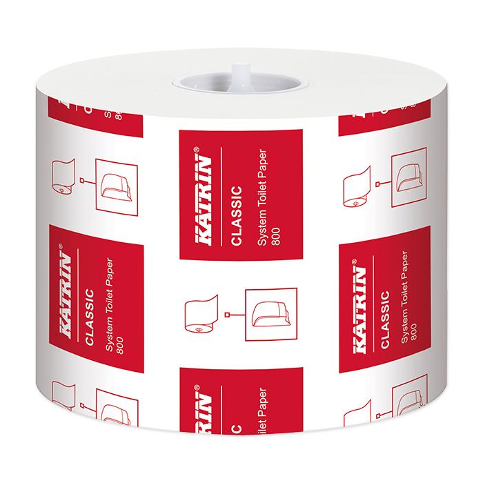 Papier toilette Katrin Classic System Toilet 800 2 couches, 9,9 x 12 cm