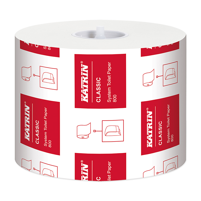 Katrin toilet paper Classic System Toilet 800 2-layer, 9,9 x 12 cm