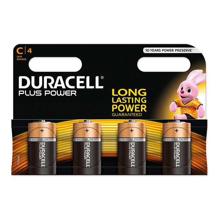 Duracell C Plus Power 1.5 Volt, 4 pieces